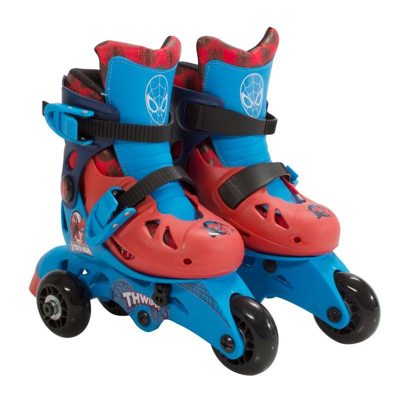 Kids Marvel Ultimate Spiderman 2-in-1 Convertible Roller Skates by Playwheels, Red 33809356