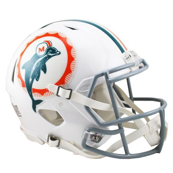 Riddell Miami Dolphins 1966 Tribute Revolution Speed Authentic Helmet