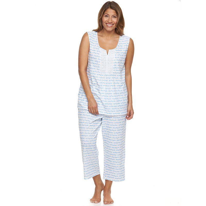 Plus Size Croft & Barrow® Pajamas: Sleepy Sunshine Capris Pajama Set