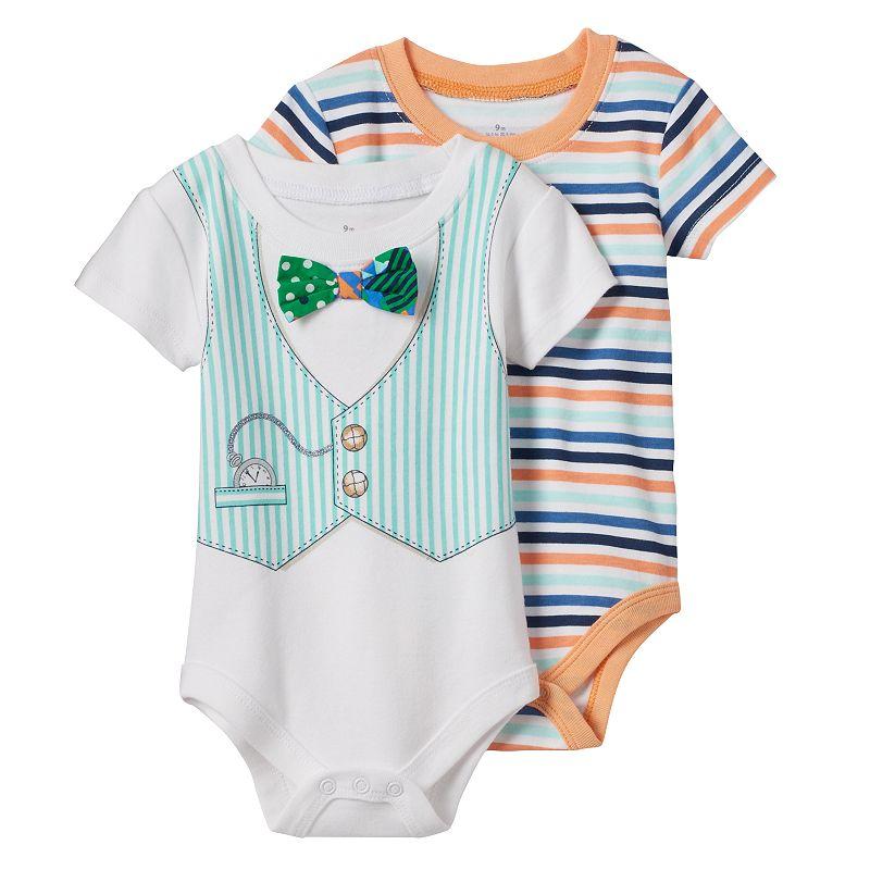 Baby Boy Baby Starters 2-pk. Vest Stripe Bodysuits
