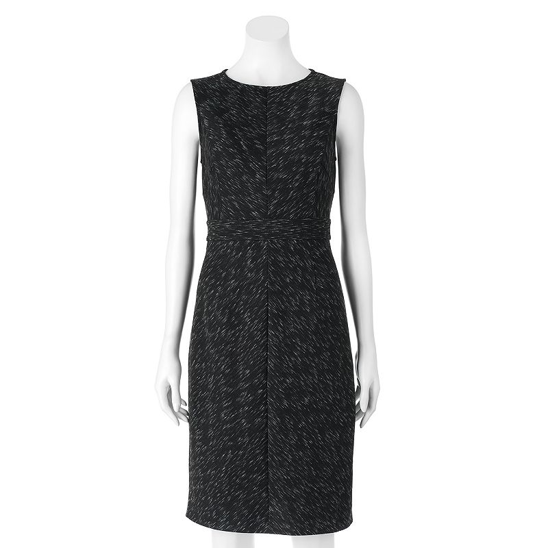 Women's Apt. 9® Marled Ponte Sheath Dress