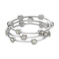 COCO LANE Hexagon Bangle Bracelet Set