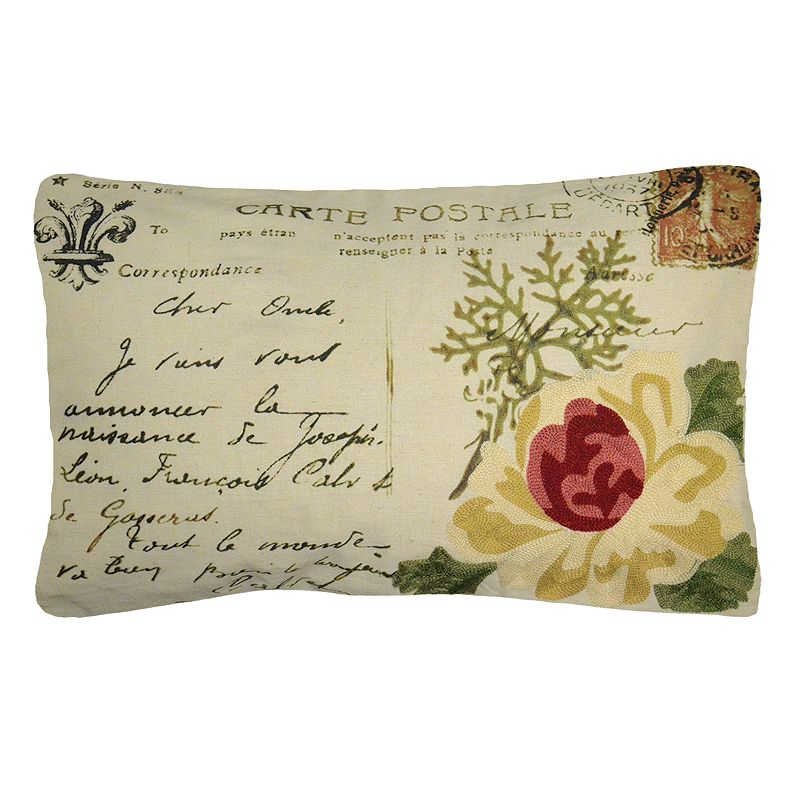 Spencer Home Decor Nature Collage Postcard Throw Pillow