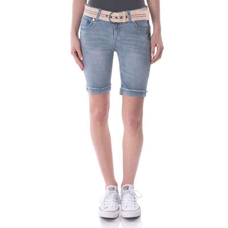 Juniors' Wallflower Back Flap Bermuda Shorts