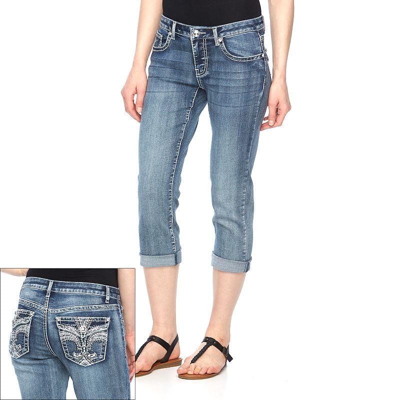 Women's Apt. 9® Embellished Roll-Cuff Capri Jeans