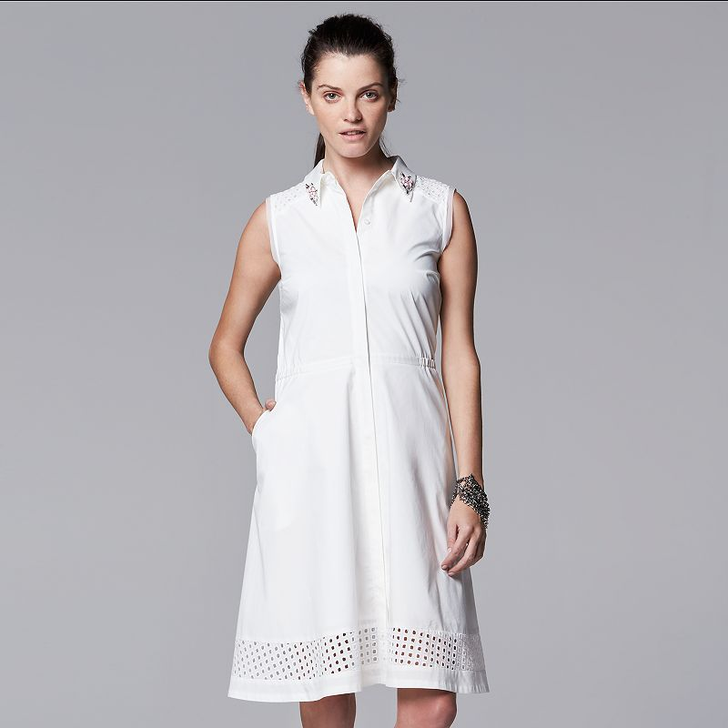 Women's Simply Vera Vera Wang Eyelet Shirtdress