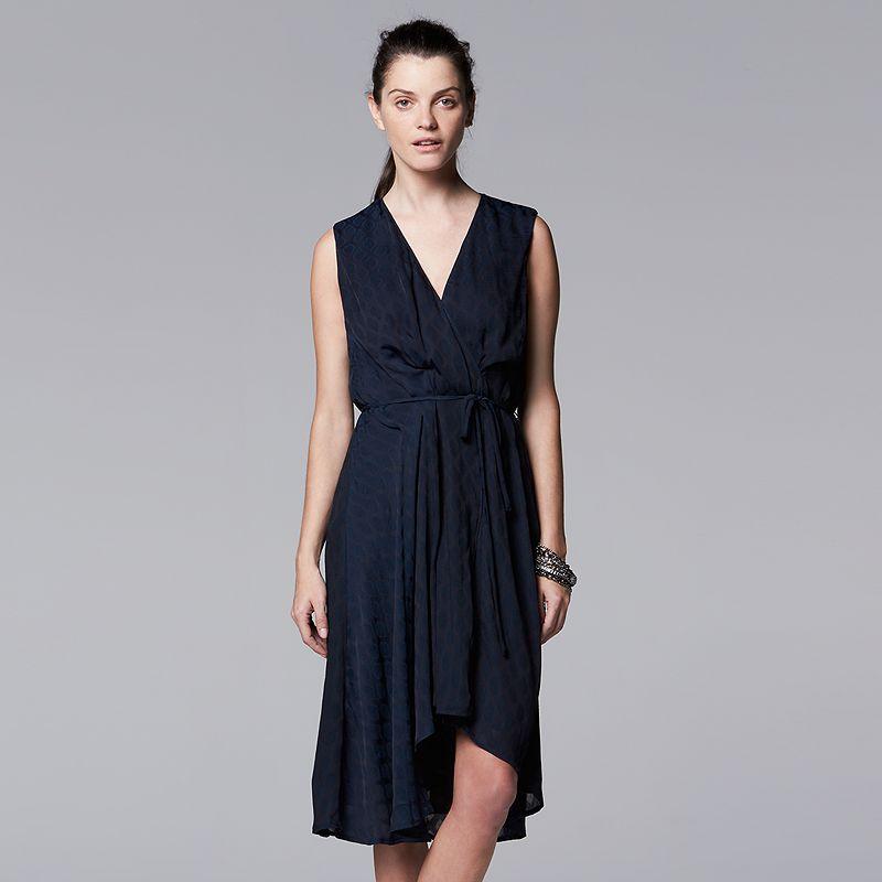 Women's Simply Vera Vera Wang Draped Fit & Flare Dress