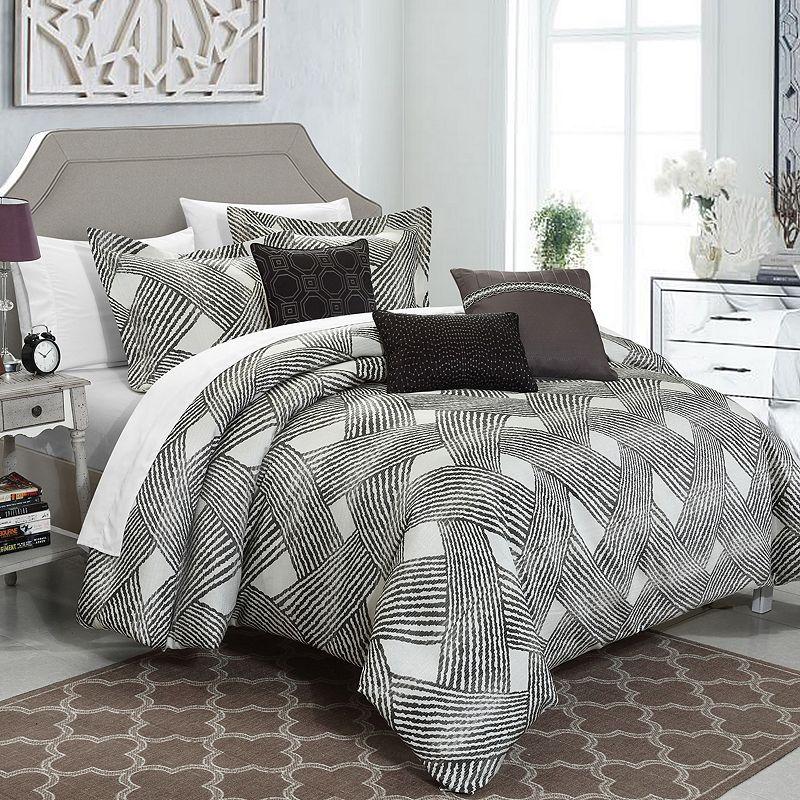 Chic Home Fiorella 6-piece Jacquard Bed Set