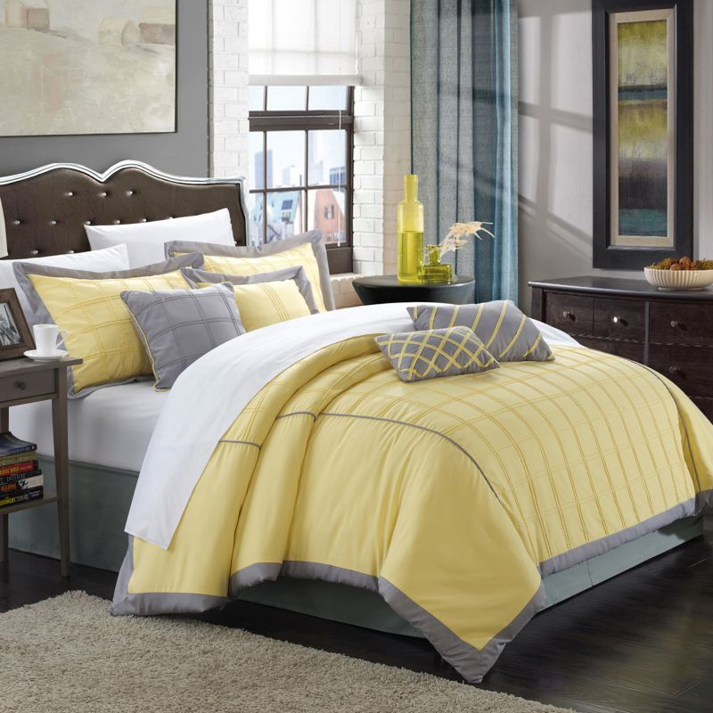 Chic Home Rhodes 8-piece Bed Set, Yellow thumbnail