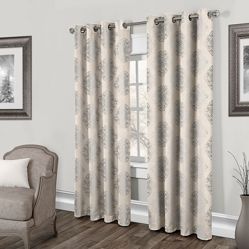 Exclusive Home 2-pack Augustus Metallic Curtains - 54'' x 84''