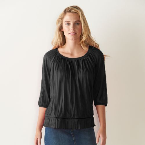 Women's SONOMA Goods for Life™ Crinkle Peasant Top