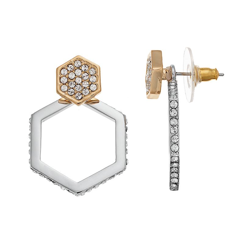 COCO LANE Hexagon Ear Jacket Earrings