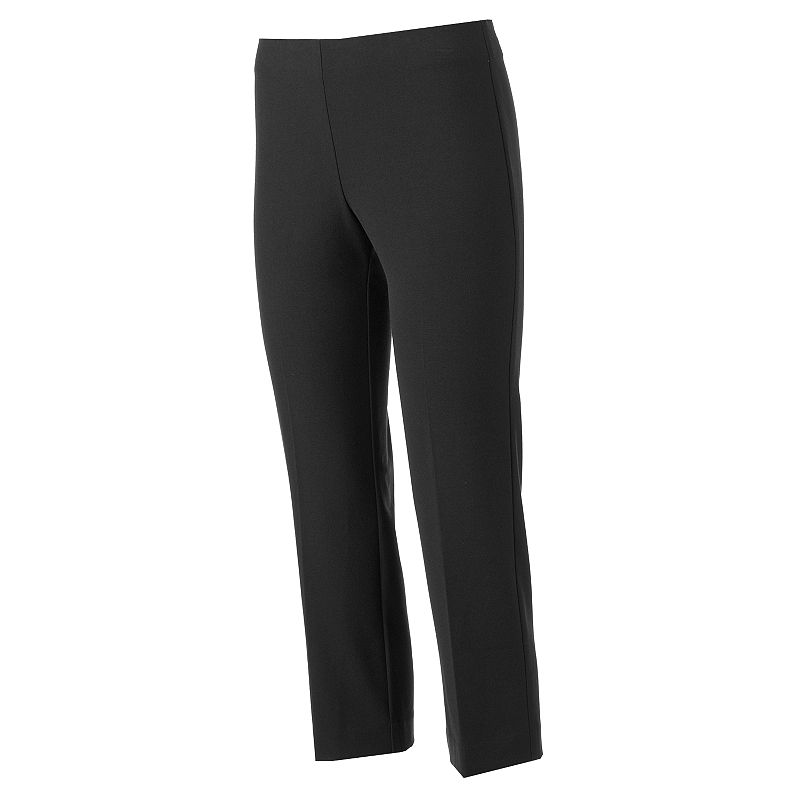 Petite Croft & Barrow® Solid Crop Pull-On Pants
