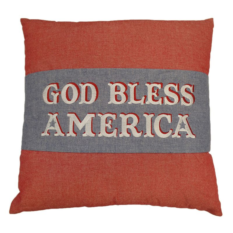 Celebrate Americana Together ''God Bless America'' Throw Pillow