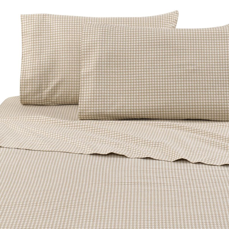 Vellux Printed Flannel Sheet Set