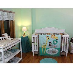 Lolli Living Zig Zag Zoo 4-pc. Crib Bedding Set