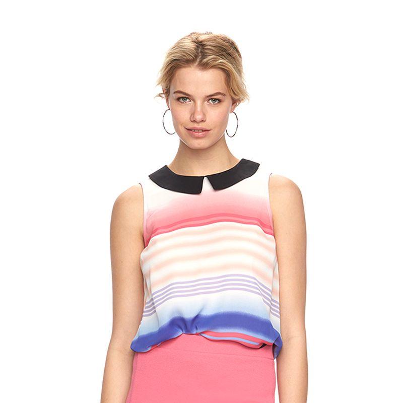 Women's ELLE™ Striped Chiffon Blouse