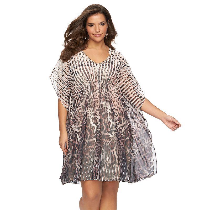 Plus Size Jennifer Lopez Print Caftan Dress