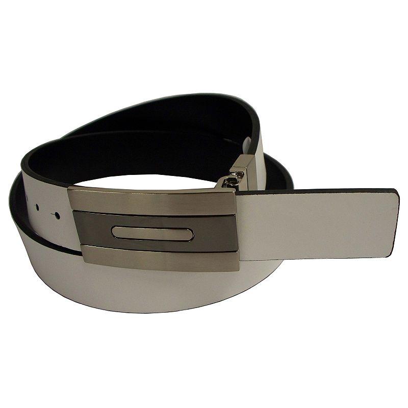Men's PGA Tour Reversible Leather Plaque-Buckle Golf Belt