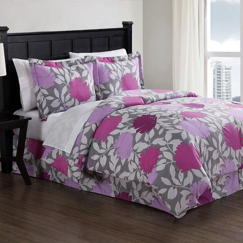 Graphic Floral Bed Set