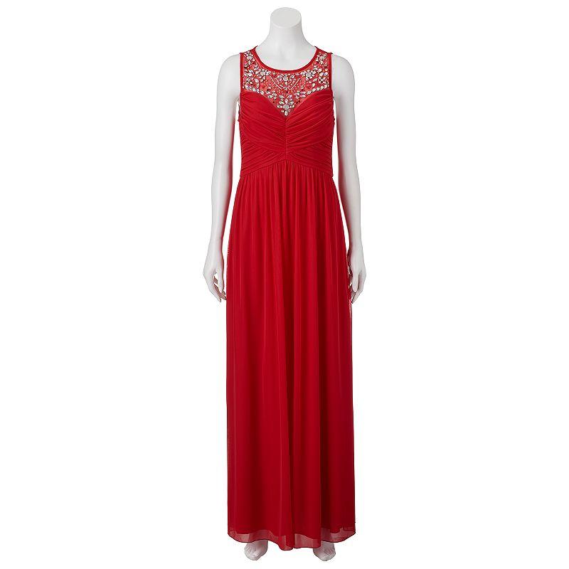 Juniors' Trixxi Beaded Maxi Dress