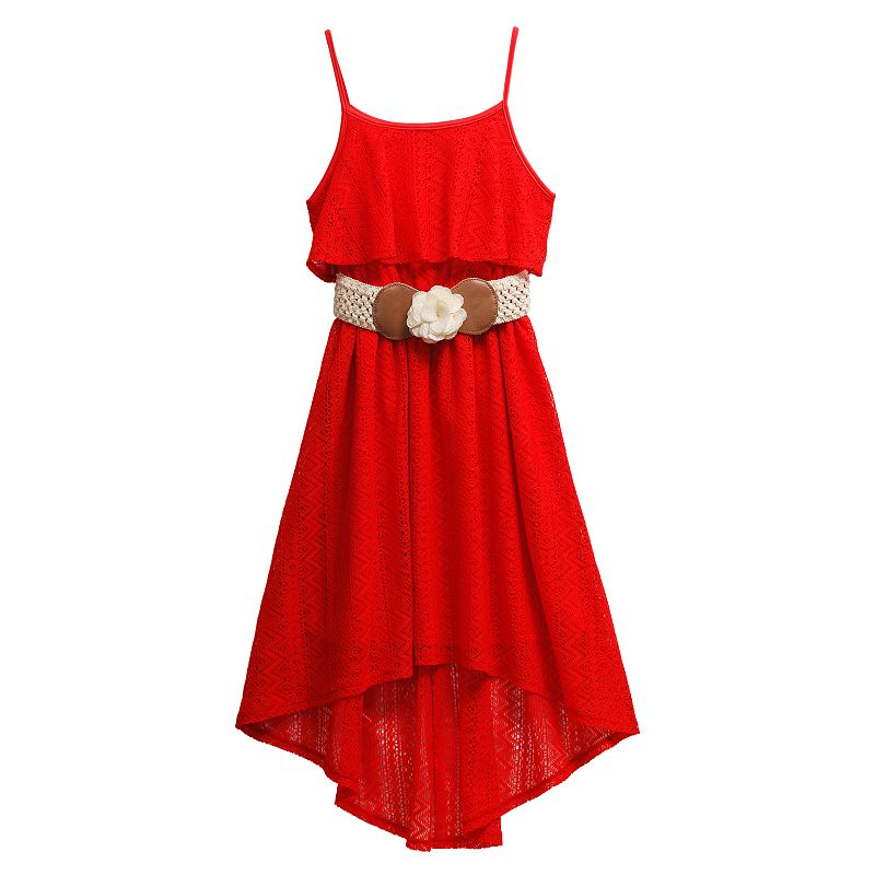Girls 7-16 Emily West High-Low Mock-Layer Dress