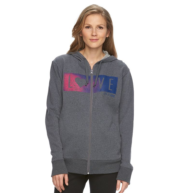 Women's Life is Good French Terry Full-Zip Hoodie