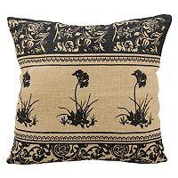 Mina Victory Lifestyles Floral Jute Throw Pillow