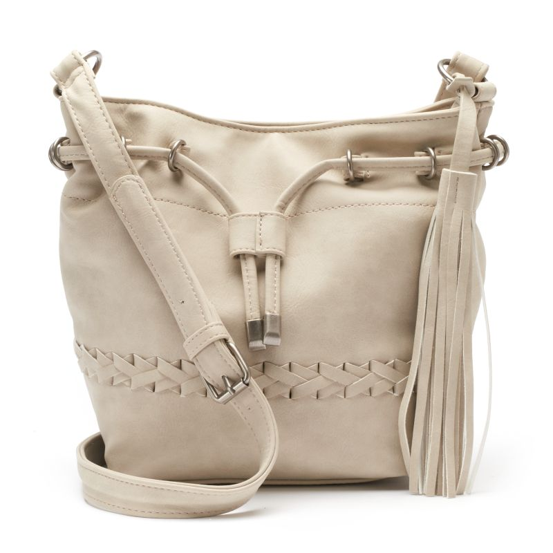 Dolce Girl Willow Drawstring Bucket Bag, Grey