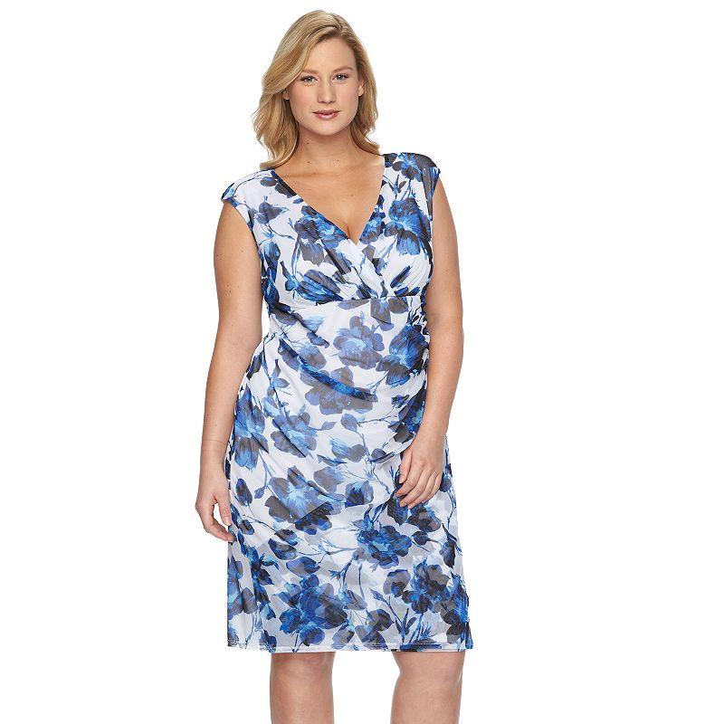 Plus Size Suite 7 Ruched Empire Dress