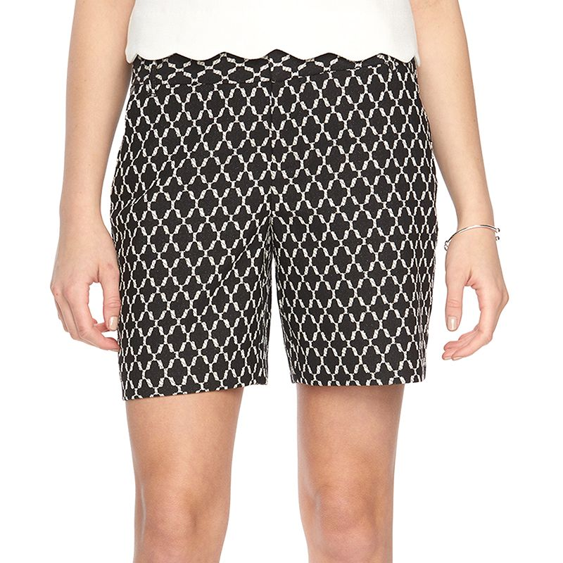Women's ELLE™ Geometric Jacquard Shorts