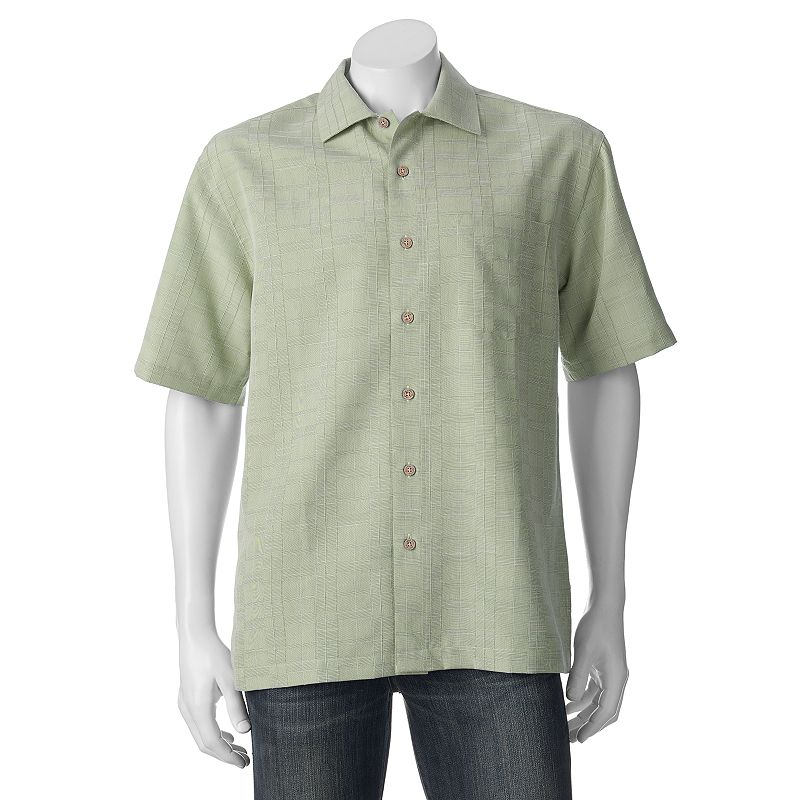 Men's Batik Bay Grid Casual Button-Down Shirt