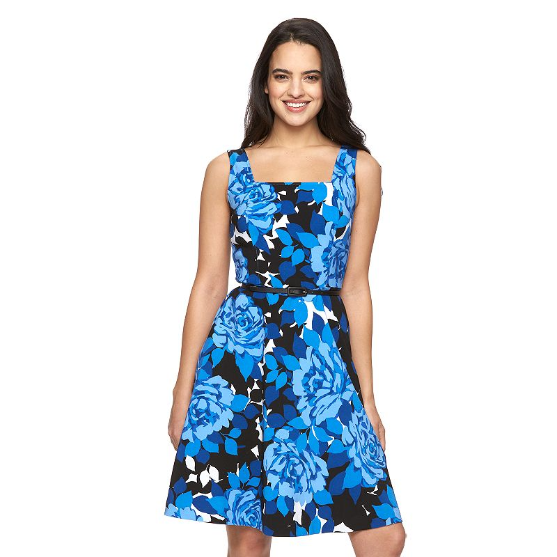 Women's Suite 7 Floral Fit & Flare Dress