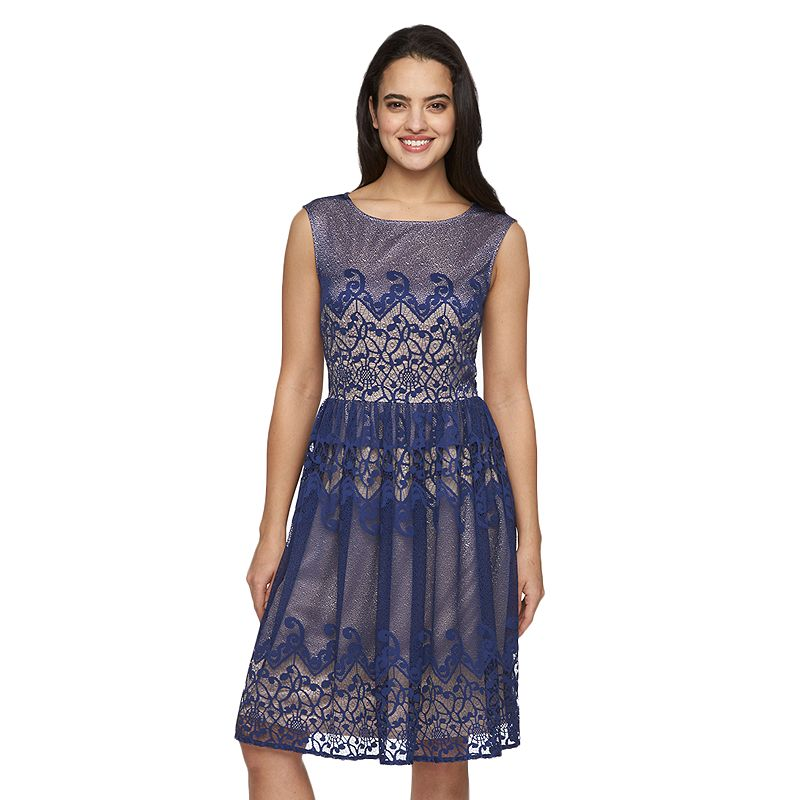 Women's Suite 7 Lace Fit & Flare Dress