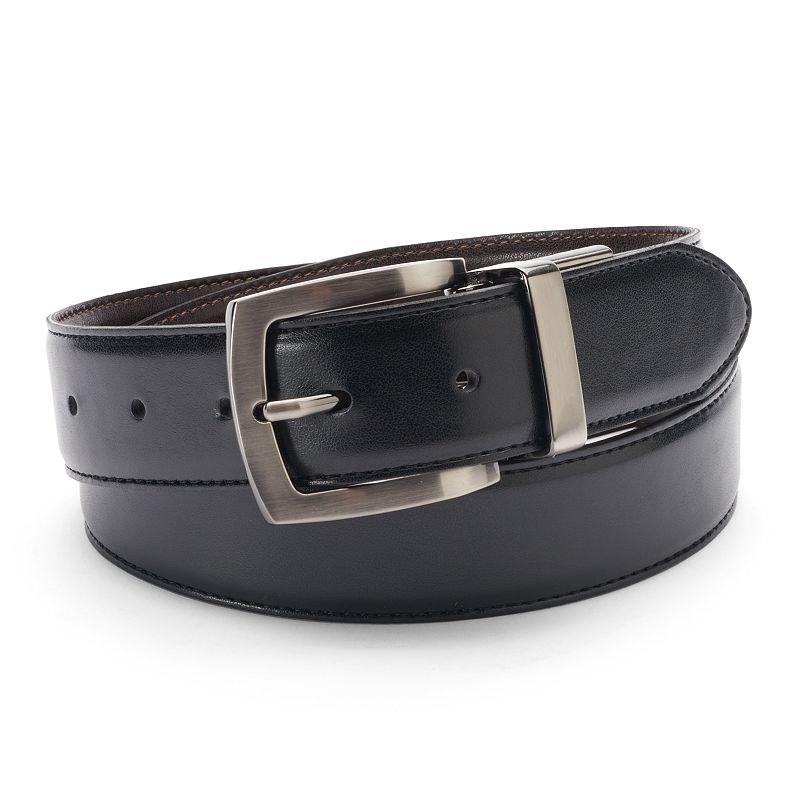 Big & Tall IZOD Stitched Reversible Leather Belt