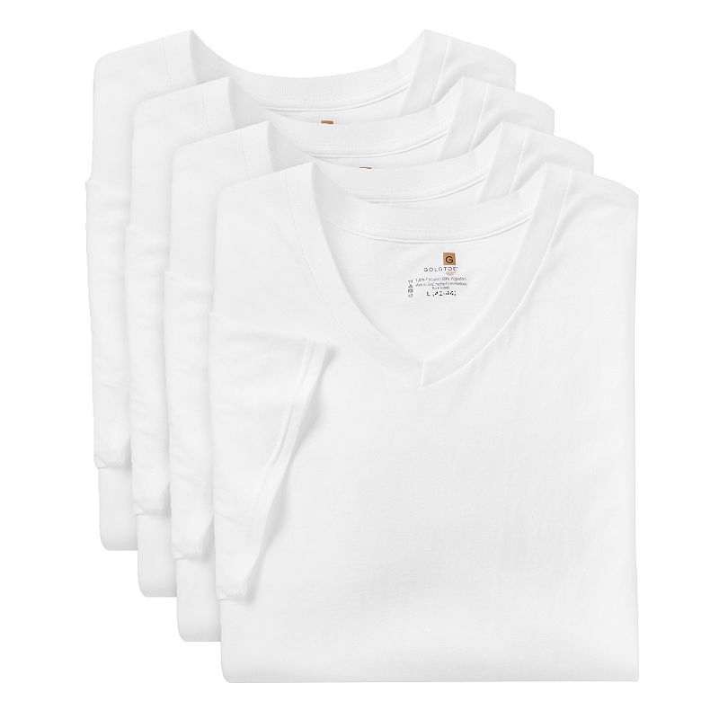 Men's GOLDTOE 4-pack Performance V-Neck Tees