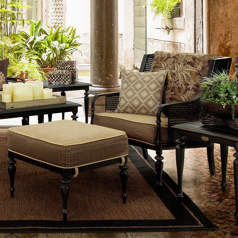 Bombay Outdoors Sherborne Palmetto Chair & Ottoman Set