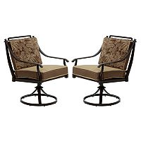 Bombay Outdoors Normandy Dining Swivel Chair 2-piece Set