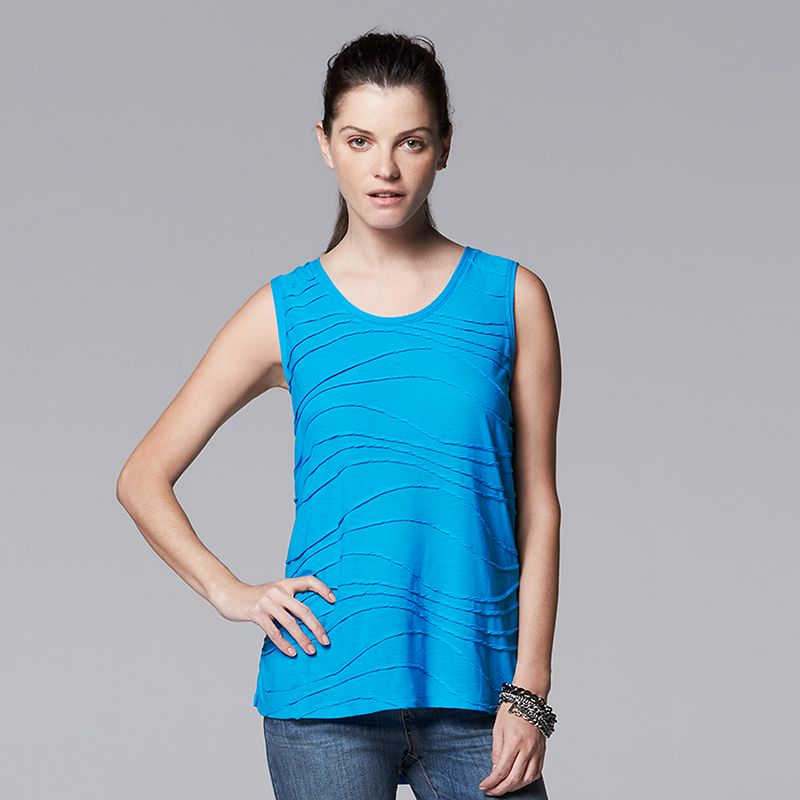Women's Simply Vera Vera Wang Windy Jacquard Tank