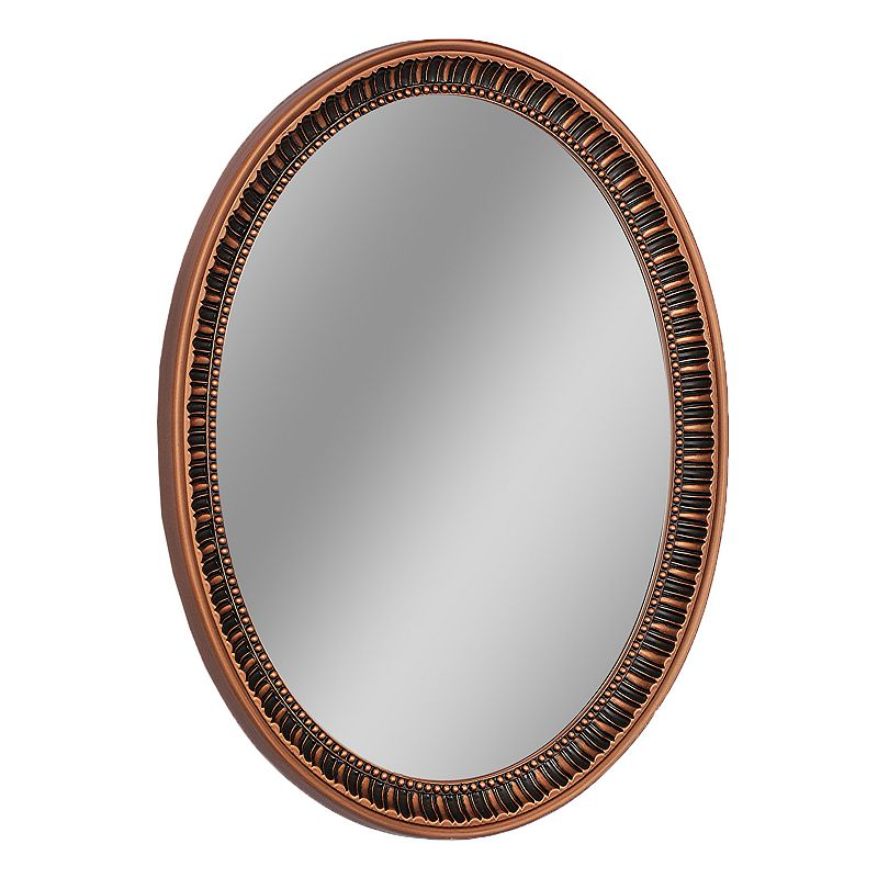Head West Carved Oval Wall Mirror