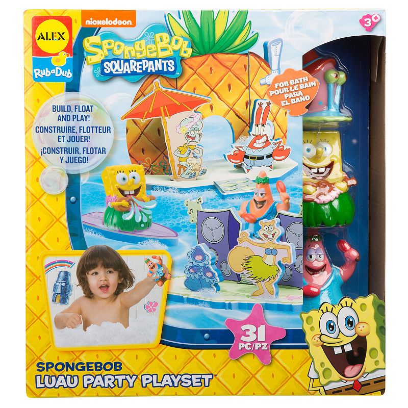 ALEX SpongeBob Luau Party Playset