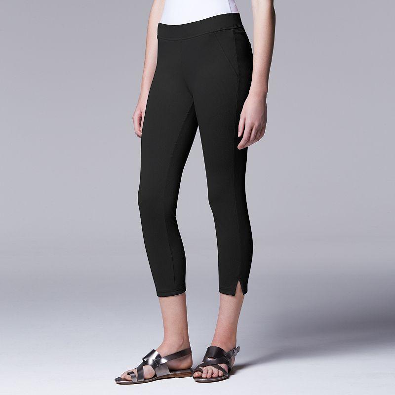 Simply Vera Vera Wang Women's Twill Capri Leggings