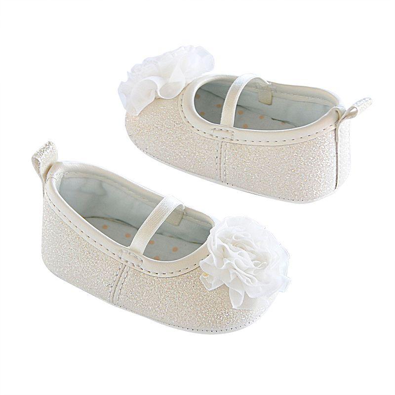 Baby Girl Carter's Glitter Mary Jane Crib Shoes