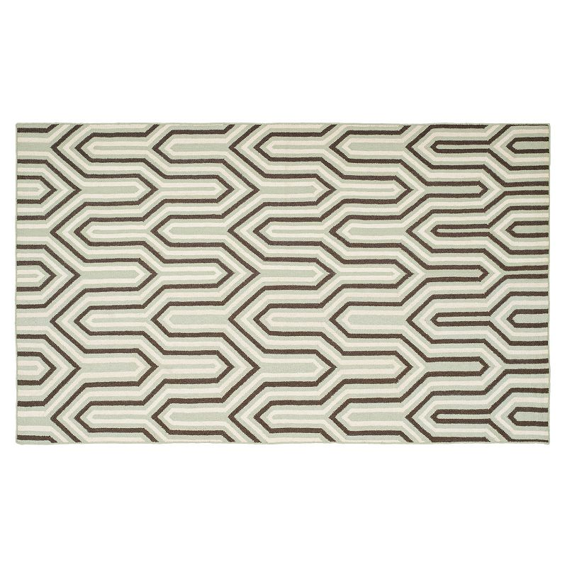 Safavieh Dhurries Wishbone Handwoven Flatweave Wool Rug