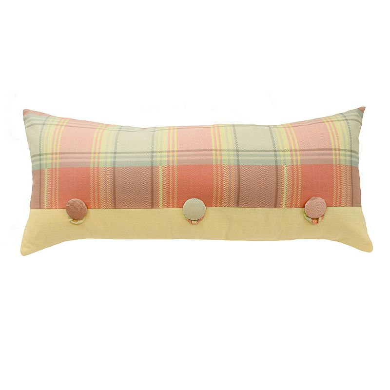 Kohls Yellow Throw Pillow : Waverly Rhapsody Reversible Oblong Decorative Pillow DealTrend
