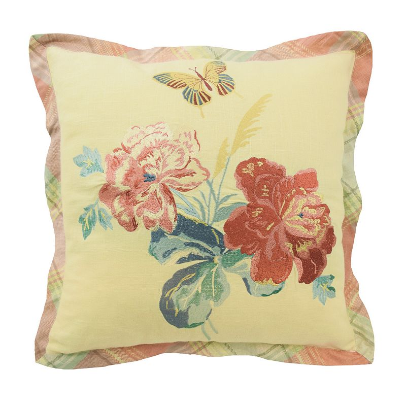 Waverly Sonnet Sublime Embroidered Throw Pillow
