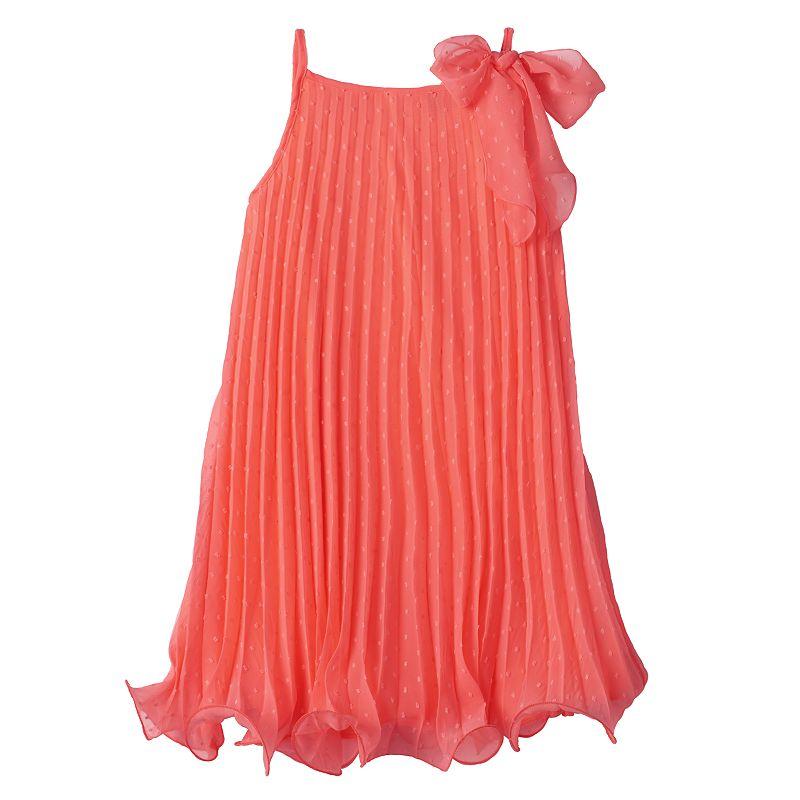 Girls 7-16 & Plus Size lilt Pleated Trapeze Dress