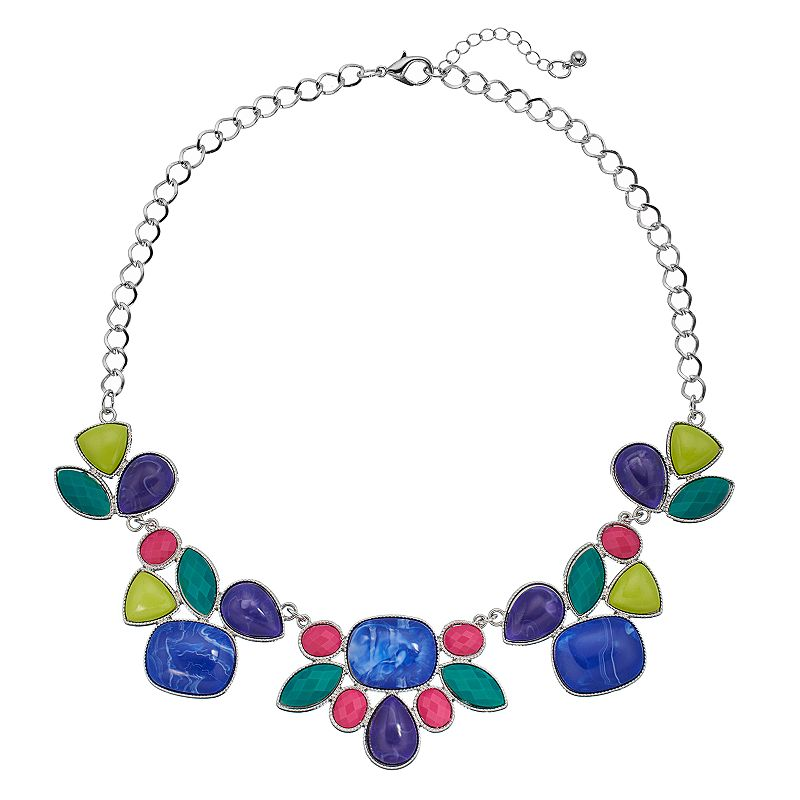 Geometric Cluster Collar Necklace