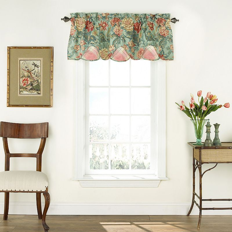 Waverly Sonnet Sublime Scalloped Floral Valance - 52'' x 18''