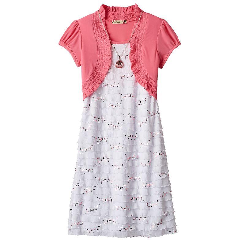 Girls 7-16 & Plus Size Speechless Mock-Bolero Sequin Dress